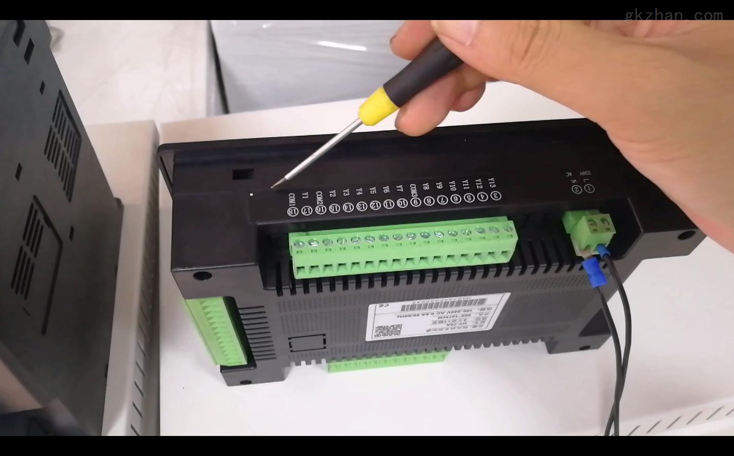 触摸屏PLC变频恒压供水控制一体机这样接线