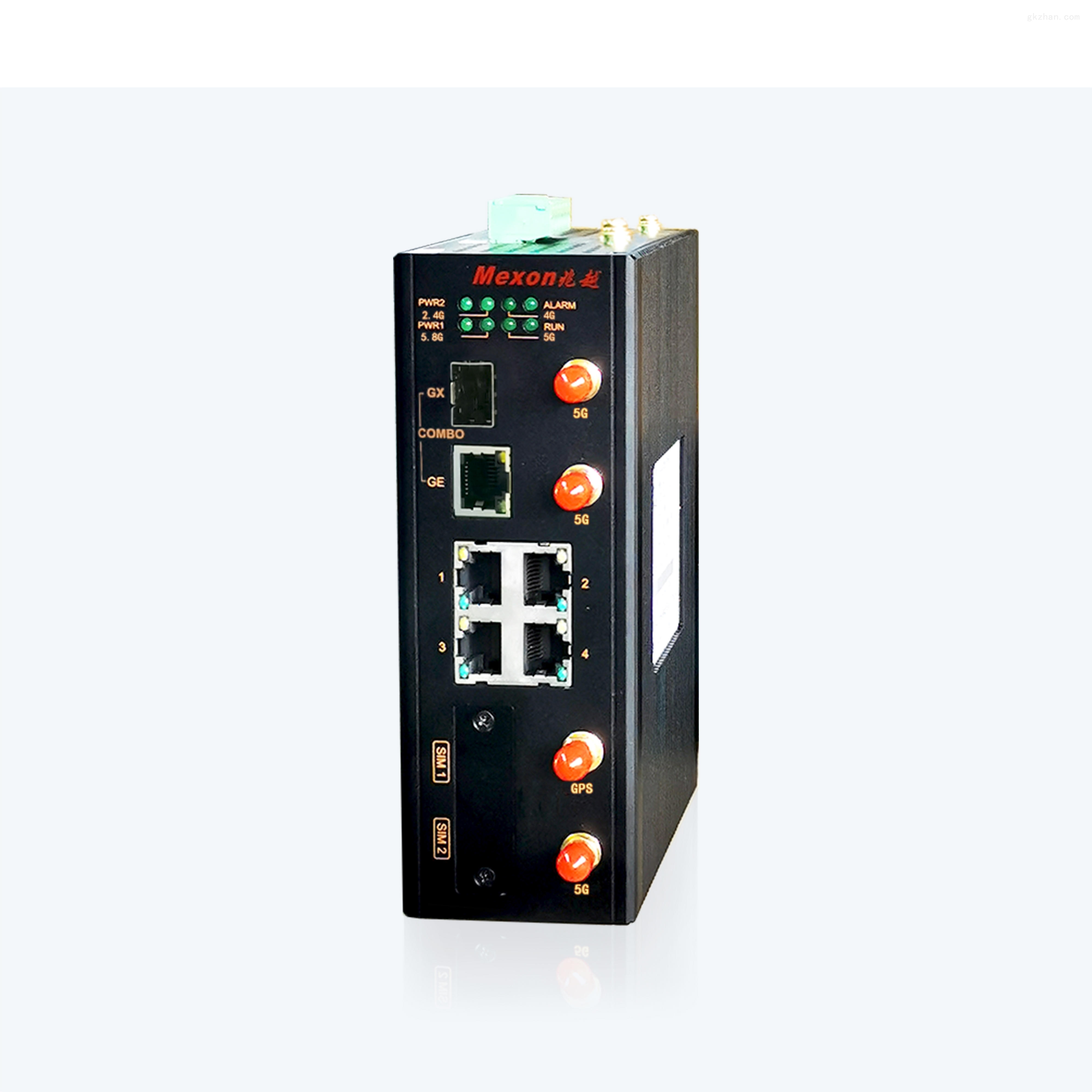 MWG-3500  卡轨式工业无线5G+WIFI5路由器