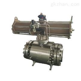 Q647F气动带手轮型锻打固定球阀