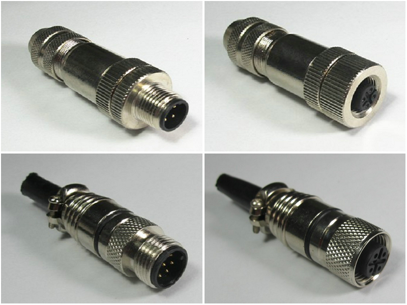 M12防水接插件屏蔽90度L型插头